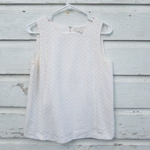 LOFT Ivory Lace Sleeveless Top